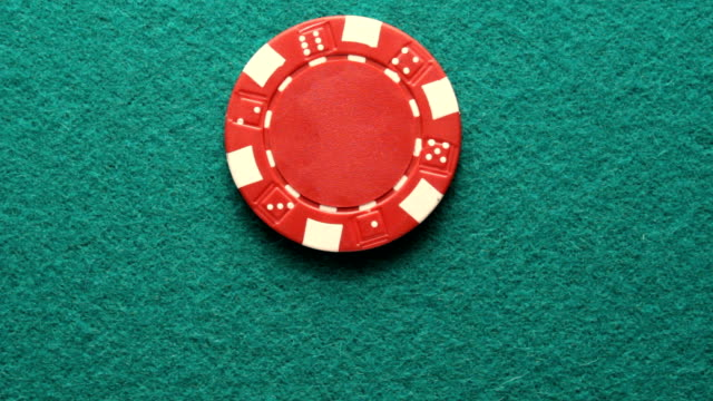 spinning red poker chips video