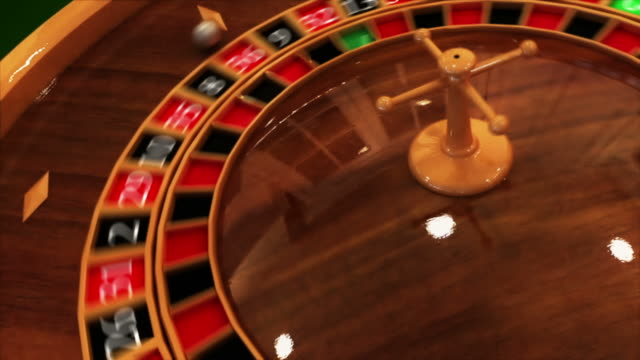 Spinning Roulette Table video