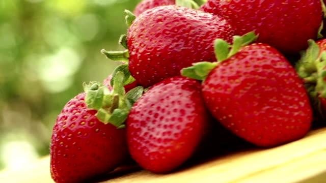 Spinning strawberries video