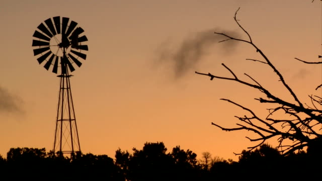Spinning Western Windmill Silhouette video