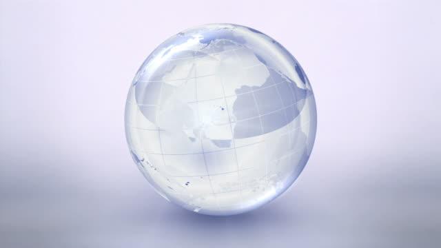 Spinning World Globe video