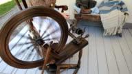 Spinning yarn old fashion P HD video
