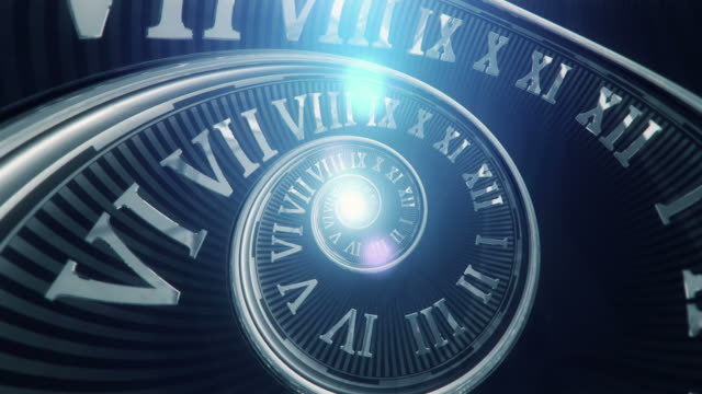 Spiral Clock (Dark, without Handles) - Loop video