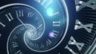 Spiral Clock (Dark, Golden Ratio) - Loop video