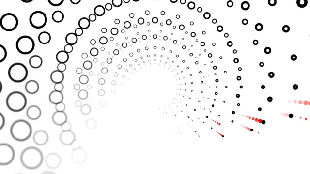DOTTED SPACE : spiral flow, white back (LOOP) video