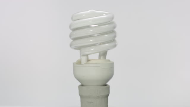 Spiral fluorescent light bulb video