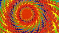 Spiral Fractal Rotating Red Sun Animation Background video