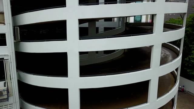 4K Spiral of parking car video