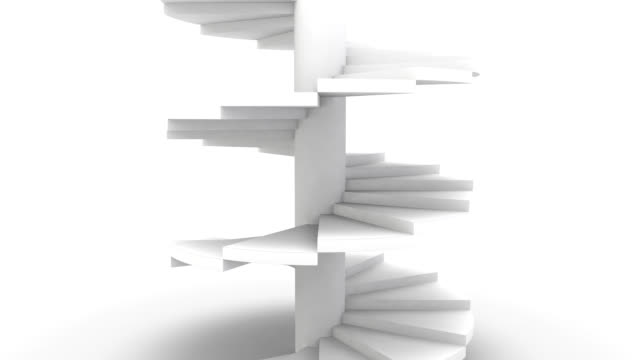 Spiral Staircase on White video