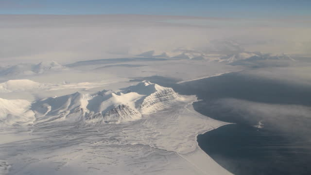 Spitsbergen (Svalbard) with its beauty. View from the airplane window. video
