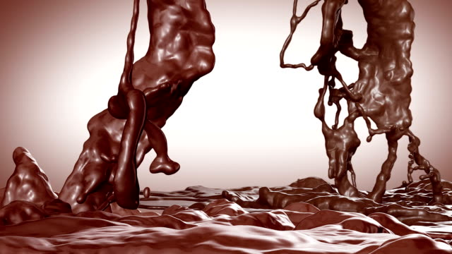 Splash of Hot Chocolate. Slow motion.With mask. video