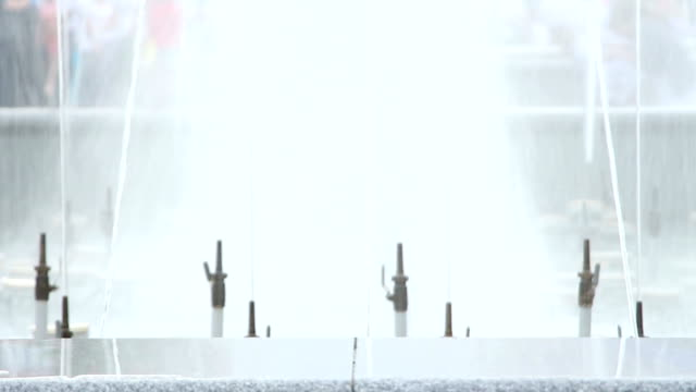 splashes of fountain water video