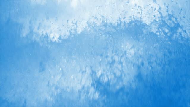 HD Splashing foam close-up in slow motion video