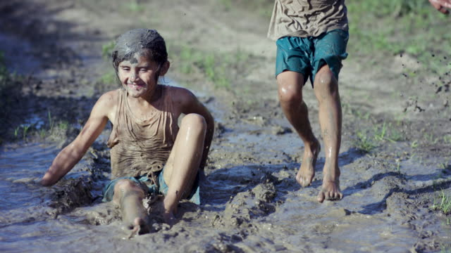 Splashing in the Mud video