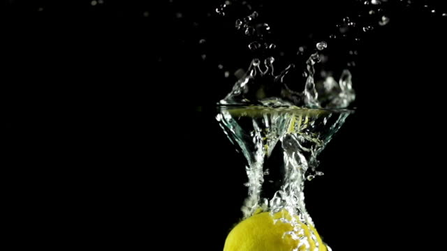 SLOW MOTION: Splashing Lemon video