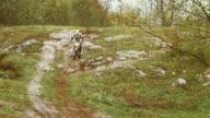 HD: Splashing Through Mud On The Rear Wheel video