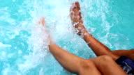 Splashing Water Feet video