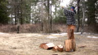 Splitting Wood video