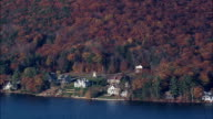Spofford Lake  - Aerial View - New Hampshire,  Cheshire County,  United States video