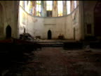 Spooky Altar Call in old church - steadicam video