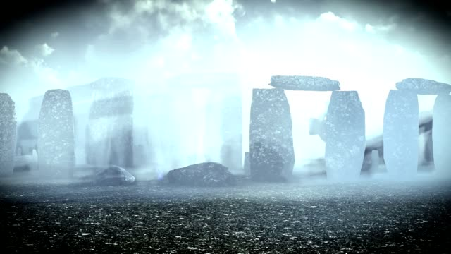 Spooky celtic cementary video