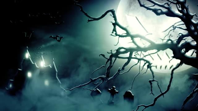 Spooky scenery (blue) - Loop video