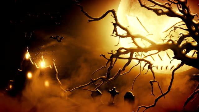 Spooky scenery (orange) - Loop video