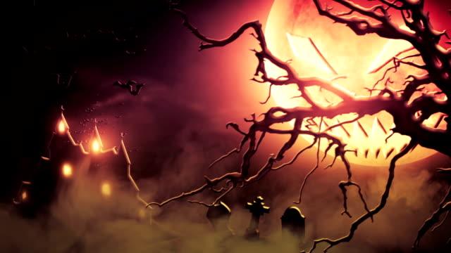 Spooky scenery (red) - Loop video