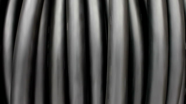 Spool of internet data cable optic fiber video
