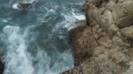 spoondrift in seashore beautiful summer weather video