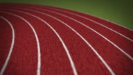 Sport and Olympics background: Two-hundred meter running race POV video