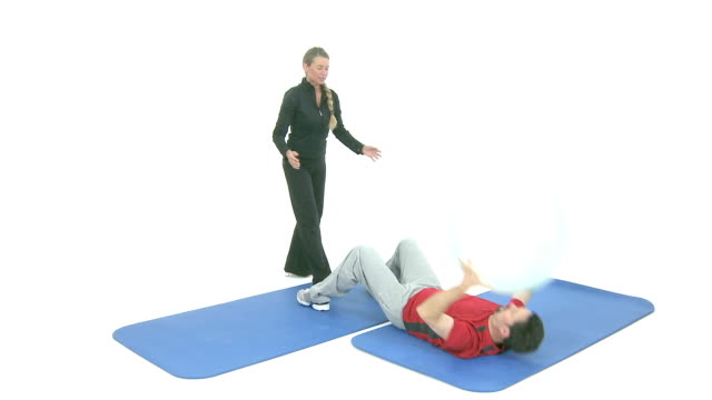 Sport exercise with medicine ball video