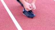 Sport shoe lacing. video