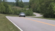 sports car down a winding road video