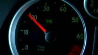 Sports car gauge rev video