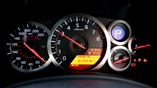 Sports Car Tachometer Revving video