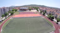 Sports fields - High School - Arial View video