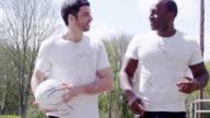 Sports men friends video