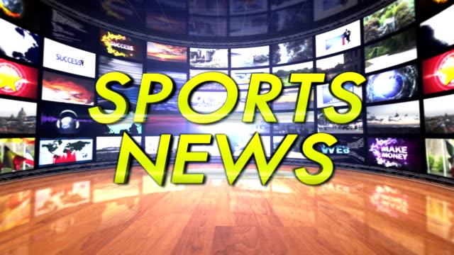 Sports News Text in Monitors Room, Loop video