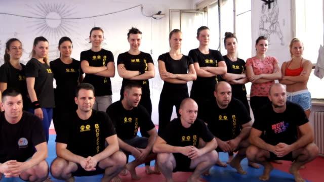 Sports team posing video