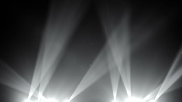 Spot Lights Background Loop - Black and White (Full HD) video