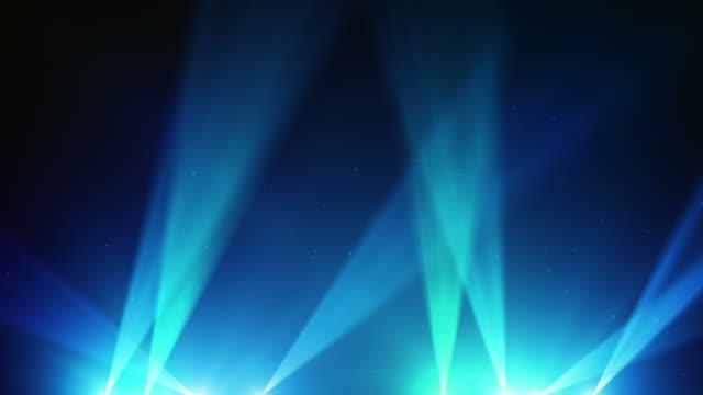 Spot Lights Background Loop - Blue (Full HD) video