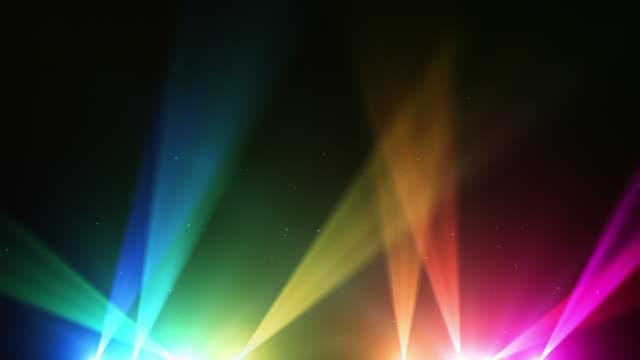 Spot Lights Background Loop - Rainbow (Full HD) video