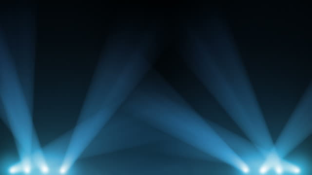 Spotlight animation. Blue and White. video