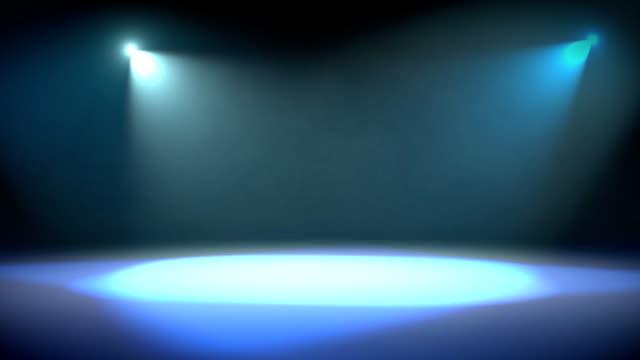 Spotlight Revolve Background Loop Blue video