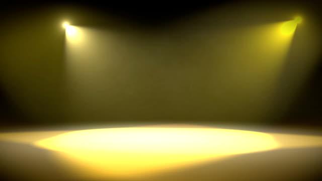 Spotlight Revolve Background Loop Yellow video