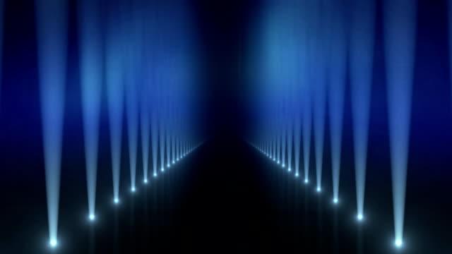 Spotlights on Catwalk Background Loop Blue video