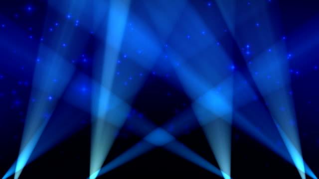 Spotlights on Sky Background Loop Blue video