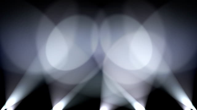 Spotlights on Wall Background Loop  White video