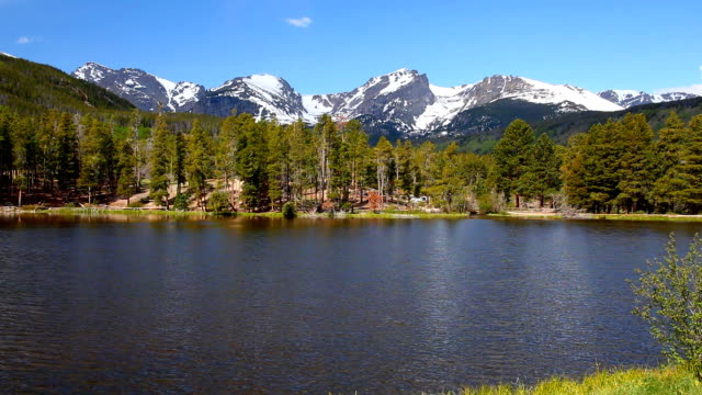 Sprague Lake at Rocky Mountain National Park video